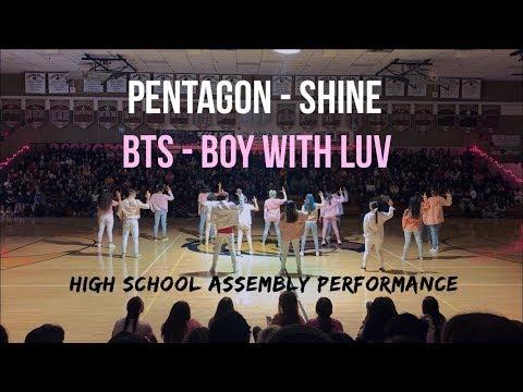 [HKDC] PENTAGON SHINE + BTS BOY WITH LUV HIGH SCHOOL ASSEMBLY Public Dance Performance