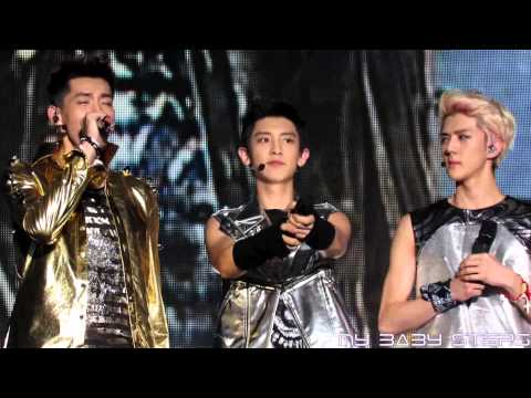 130526 EXO Chanyeol Kris & Sehun - Self Introduction at Happy 4 Kpop Concert in Taiwan
