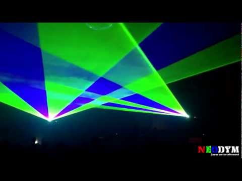 INTRO LASER CO2 PARTY 02/03/13 - Piper's Club Athus - Neodym Laser Entertainment