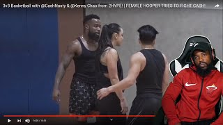 TRASH TALKING FEMALE HOOPER MADE ME MAD!! 24 Hour Fitness 3vs3 Basketball