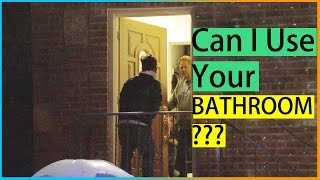 CAN I USE YOUR BATHROOM? Prank in Public