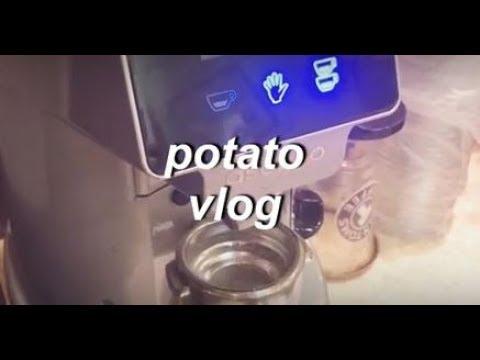 vlog03|탐앤탐스|알바로그|카페알바하는날|감자로그