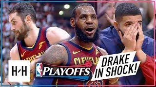 LeBron James & Kevin Love EPIC Game 2 Highlights vs Raptors 2018 Playoffs ECSF - SHOCKED Drake!