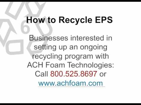 How to Recycle EPS by ACH  Foam Technologies