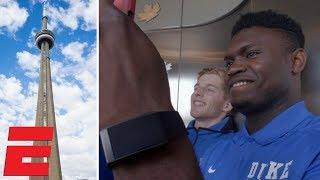 Zion Williamson, RJ Barrett, Duke Blue Devils explore CN Tower in Toronto | College Basketball
