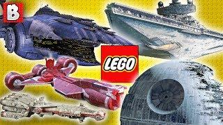 LEGO Star Wars Ships Size Comparison in Minifigure Scale!!!