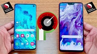Samsung Galaxy S10 Vs OnePlus 6 Speed Test !!!