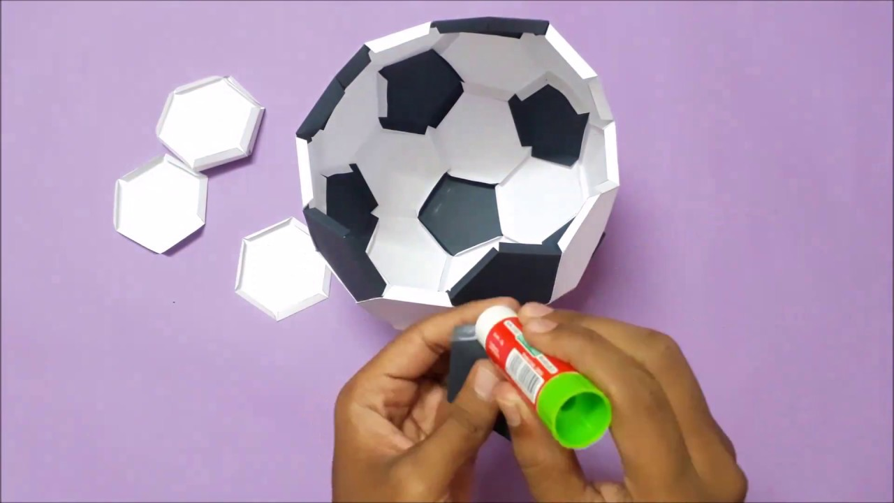 Origami Football (Soccer ball) - Easy Origami instructions For Kids | 720x1280