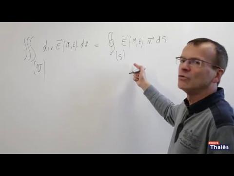 Théoreme de Gauss - électromagnétisme maths spé 2 sur 5
