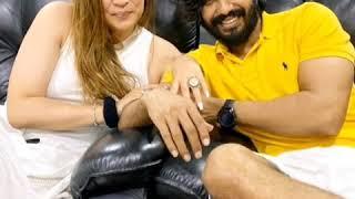 Vishnu Vishal gets engaged to shuttler Jwala Gutta..