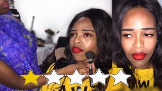 I WENT TO THE WORST REVIEWED MAKEUP ARTIST IN MY CITY    Tebello Rapabi