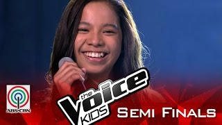 """The Voice Kids Philippines 2015 Semi Finals Performance: """"If I Were A Boy"""" by Sassa"""