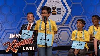 Jimmy Kimmel vs. 12, 13 & 14 Year Old Spelling Bee Winners