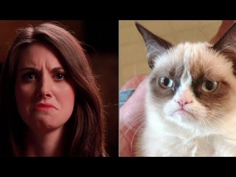 Alison Brie Imitates Popular Internet Memes - YouTube