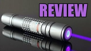 Purple 405nm Chinese Burning Laser Pointer Review