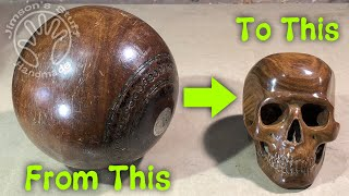 Carving a Skull from a Bowling Ball