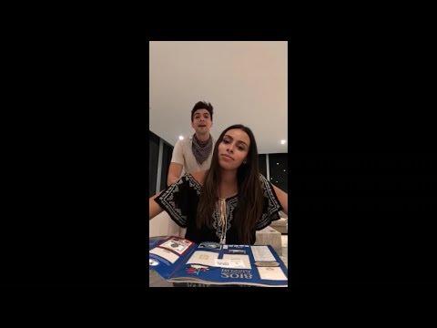 Olga le pregunta a Juli con quien de cnco seria novia Instagram live con Johann