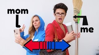 SWITCHING LIVES WITH MY MOM!   Brent Rivera