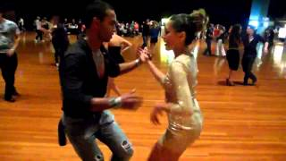 Sharon Pakir social dance cha cha with Roberto Paul at Sydn