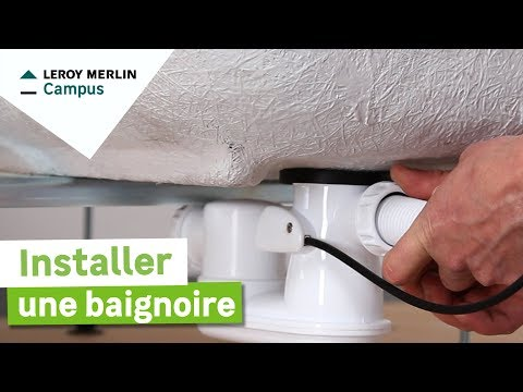 comment installer une baignoire leroy merlin youtube. Black Bedroom Furniture Sets. Home Design Ideas