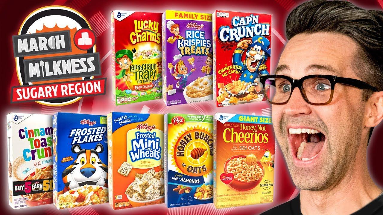 March Milkness Taste Test: Sugary Cereals