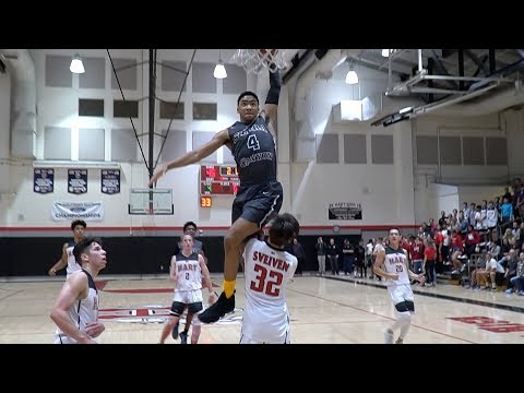 Kenyon Martin Jr Jumps OVER Defender In Front Of KANYE WEST! Full Highlights VS Hart