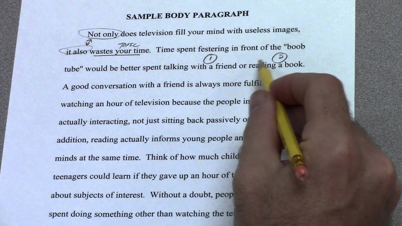 Writing the body paragraphs of a research paper
