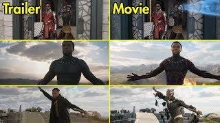 Black Panther - Trailer vs Movie Comparison [4K UHD]