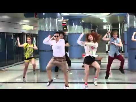 PSY - 'Gangnam Style' M/V BTS (With Hyuna)