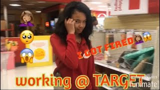 Working at target 🎯!!!! ( i got chased) 😱🤦🏽‍♀️