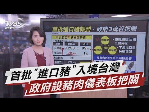 """首批""""進口豬""""入境台灣 政府設豬肉儀表板把關【TVBS說新聞】20210110"""