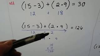 Grade 5 Math #13, 1.11, Evaluate expressions and Order of Operations