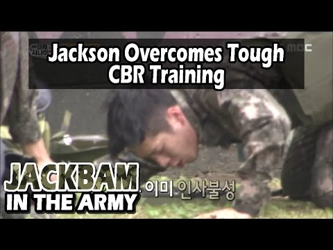 [Real men] 진짜 사나이 - Jackson Did Great While Enduring CBR Gas Training 20160529