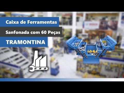 Caixa de Ferramentas Sanfonada com 60 Peças 43800945 Tramontina - Vídeo explicativo
