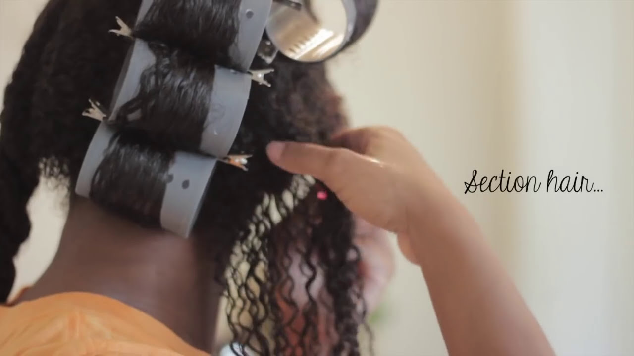 Roller Set On Natural Hair Youtube