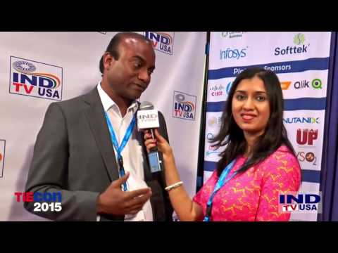 Sudheen M, President, Crystal Hues Limted Being Interviewed at TIECON