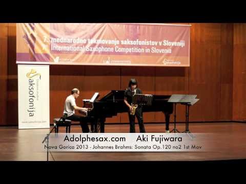 Aki Fujiwara - Nova Gorica 2013 - Johannes Brahms - Sonata Op 120 no2 1st Mov