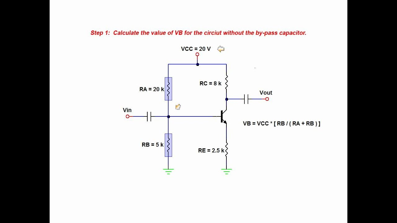 The Effects Of A By Pass Capacitor On Amplifier Voltage