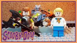 HALLOWEEN CONTEST! Shaggy and Fred Lego Scooby Doo Random Brick Bodies Stop Motion Animation