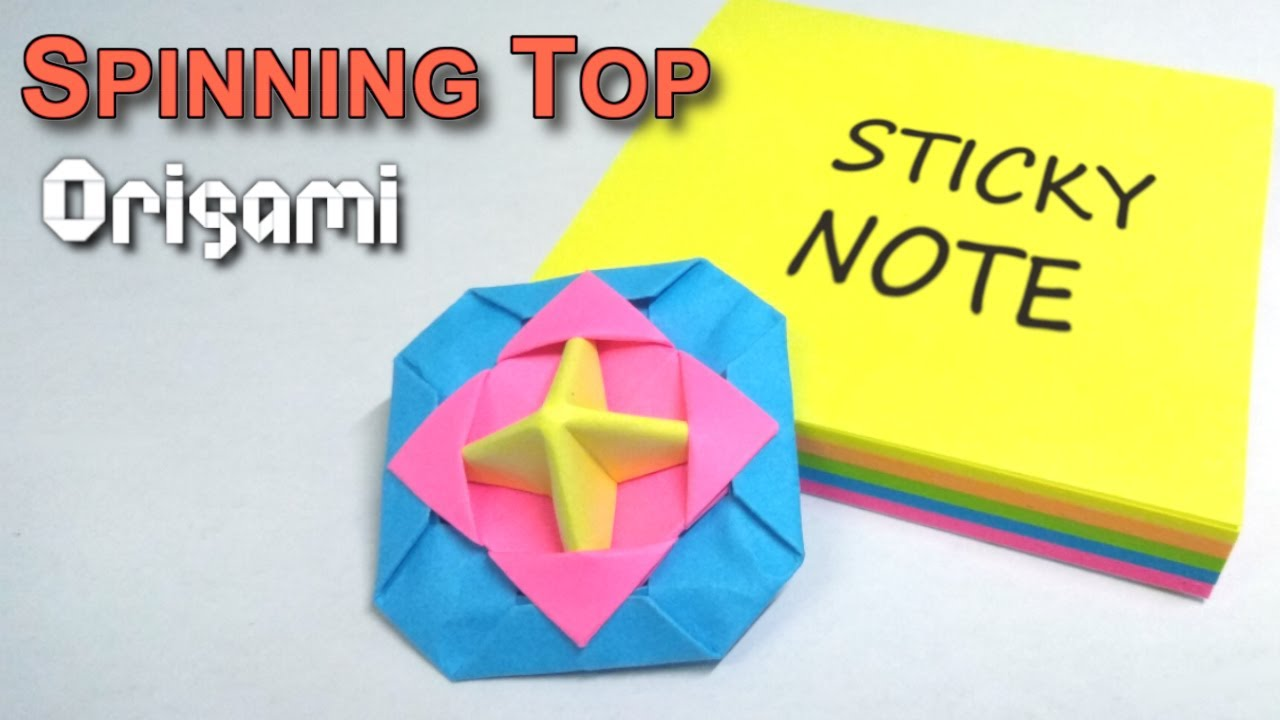 Origami Easy : Origami Star From post-it note - YouTube   720x1280