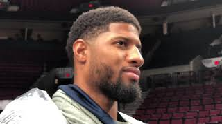 "Oklahoma City's Paul George says the Thunder ""will deliver"" against the Blazers in Game 2"