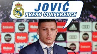 LIVE | Luka Jović's first Real Madrid press conference!