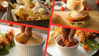 4 Amazing Dips with ketchup & Mayo - Recipes By Food Fusion
