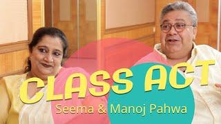 CLASS ACT: Seema & Manoj Pahwa with Rajeev Masand