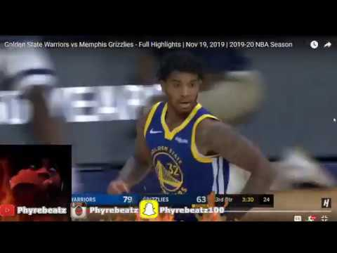 Golden State Warriors vs Memphis Grizzlies - Full Highlights | Nov 19, 2019 REACTION
