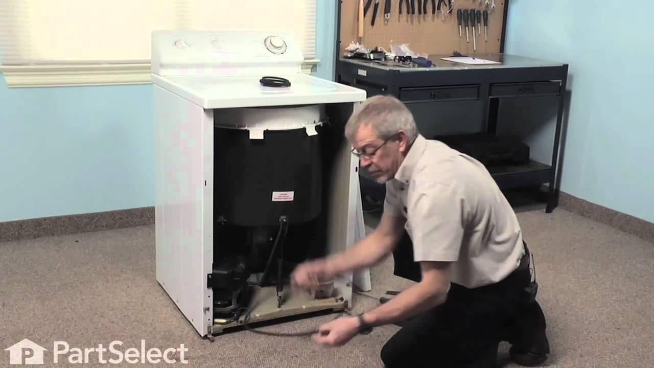 Washer Repair Replacing The Pump Belt Whirlpool Part