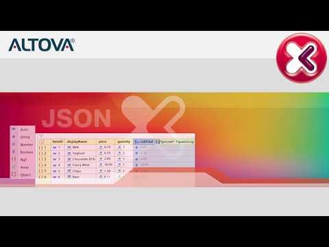 Demo of new JSON Grid Editor in XMLSpy