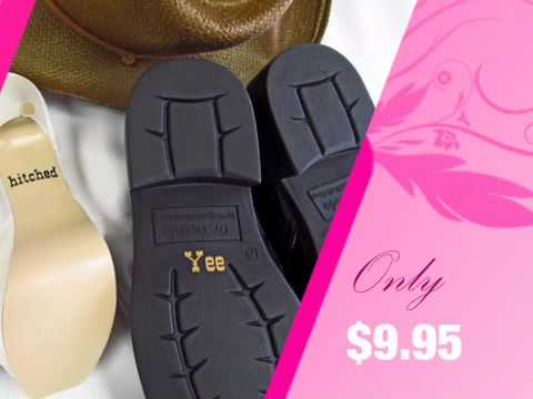 Gettin' Hitched Shoe Decals - For Bride and Groom! - AdvantageBridal.com