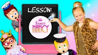 Assistant Enters a Fancy Nancy Book to help her Friends become Fancy