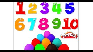 Learn Numbers for Kids with Play Doh Учим цифры на английском для детей с Плей До